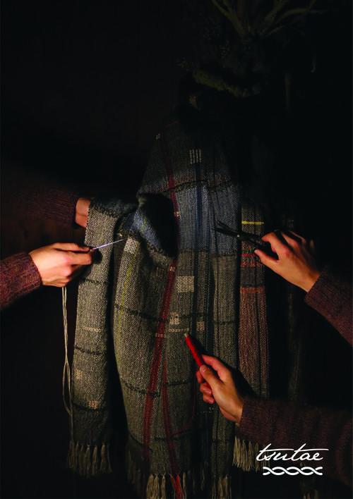 2019秋冬tsutaeの手織りストール展